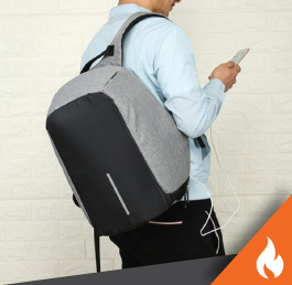Antitheft Waterproof USB Charging Travel Bag